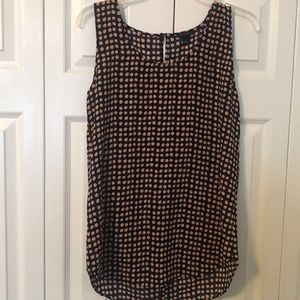 Ann Taylor Dotted sleeveless Shell